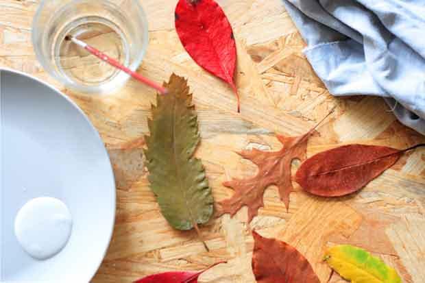 feuilles arbres peinture