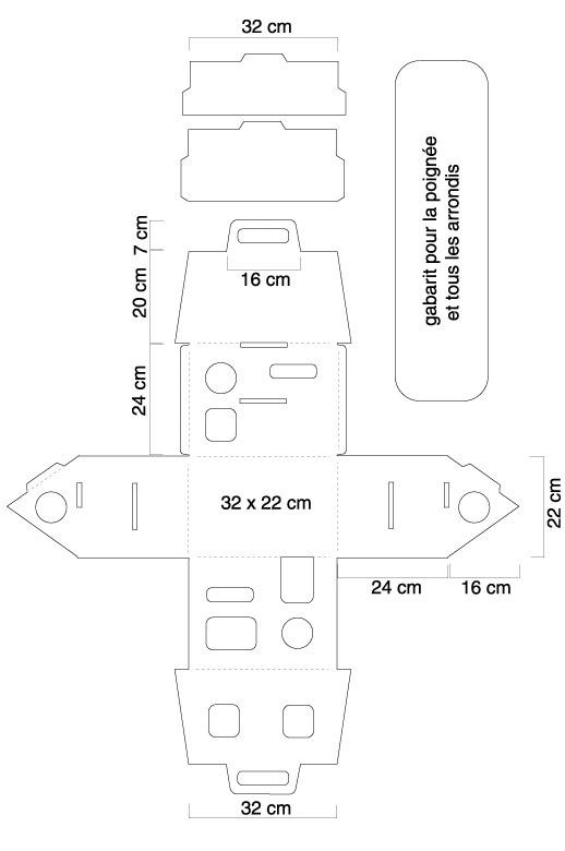 plan maisonnette carton