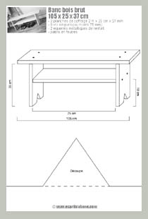 vignette plan banc bois