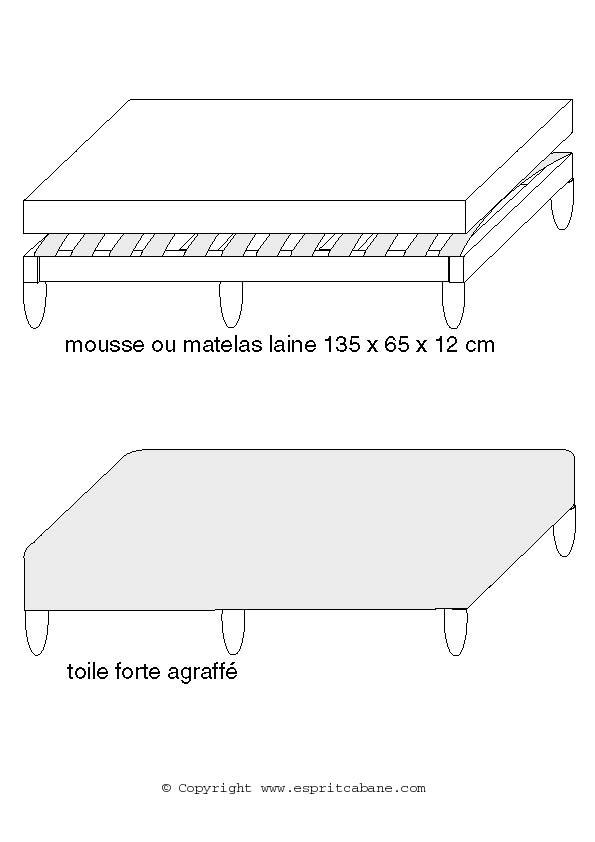 banquette canap esprit cabane idees creatives et ecologiques. Black Bedroom Furniture Sets. Home Design Ideas