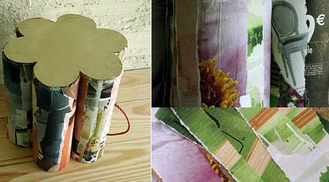 decoration bandes papier