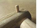 détail tourillon bois