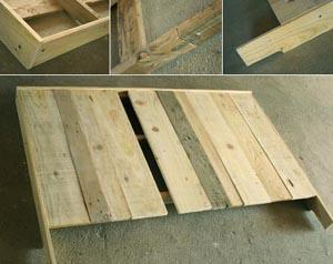 T te de lit en bois esprit cabane idees creatives et - Fabriquer tete de lit en bois ...
