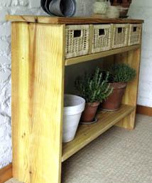 meuble planches chantier profil