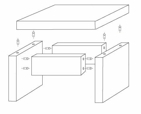 Tabouret en bois esprit cabane idees creatives et - Fabriquer un meuble en bois ...