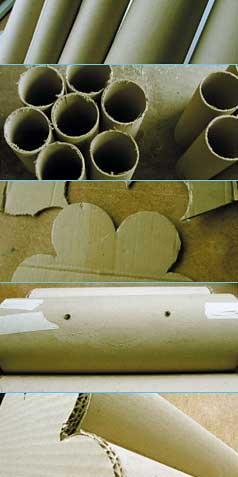 poufs en carton esprit cabane idees creatives et ecologiques. Black Bedroom Furniture Sets. Home Design Ideas