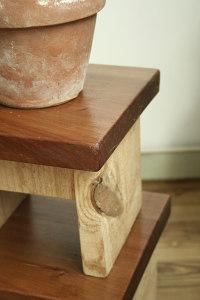 Tabouret en bois esprit cabane idees creatives et - Fabriquer un tabouret en bois ...