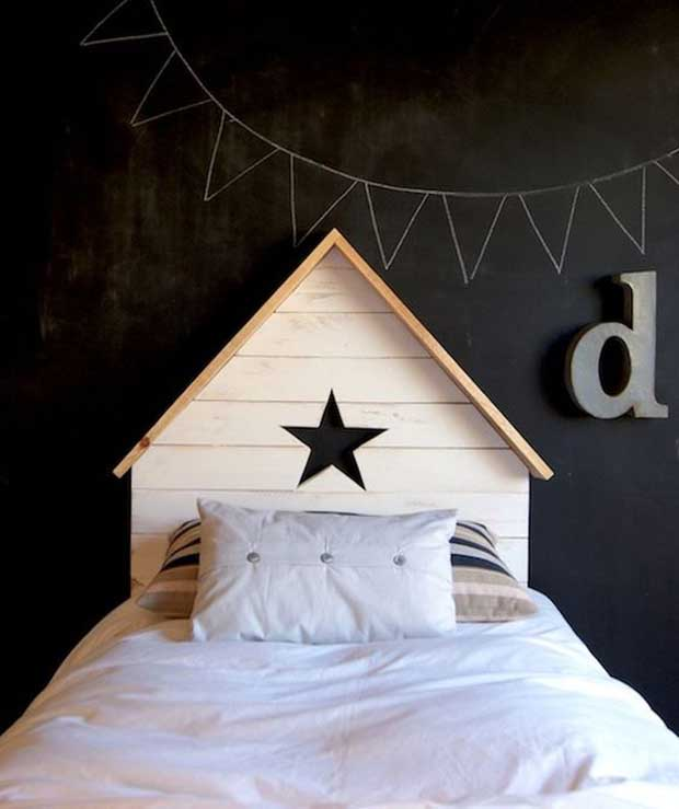 tete de lit cabane. Black Bedroom Furniture Sets. Home Design Ideas