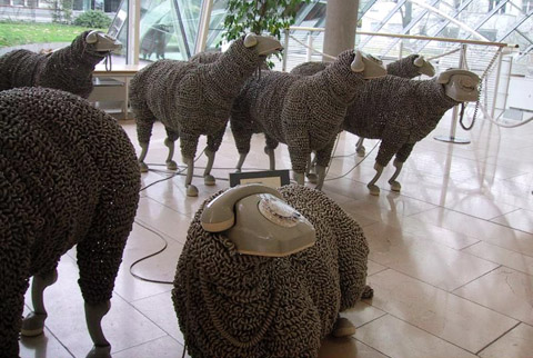 moutons fils telephone