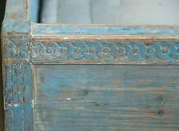 patine bleu gustavien