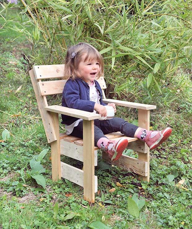 Jardin : Fauteuil enfant à fabriquer soi-même - Esprit Cabane