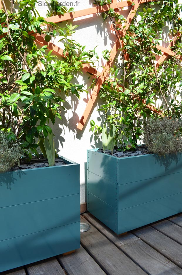 Balcon les conseils de slowgarden esprit cabane idees for Jardin terrasse design