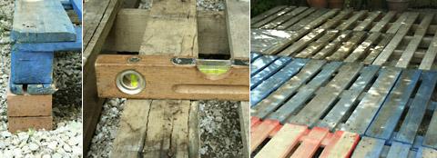 Terrasse bois palette esprit cabane idees creatives et - Faire une terrasse avec des palettes ...