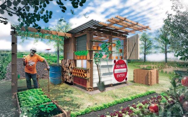 Cabane design for Idee cabane en bois