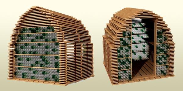 Id es d abris de jardin r cup esprit cabane idees - Construction en palette de bois ...