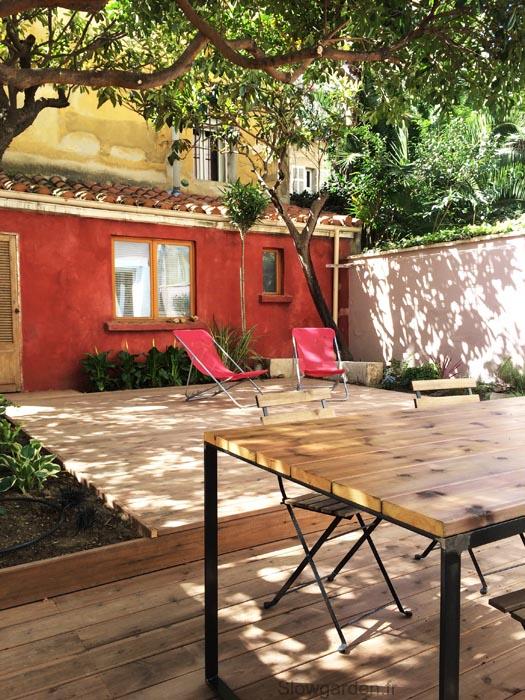 terrasse les conseils de slowgarden esprit cabane idees creatives et ecologiques. Black Bedroom Furniture Sets. Home Design Ideas