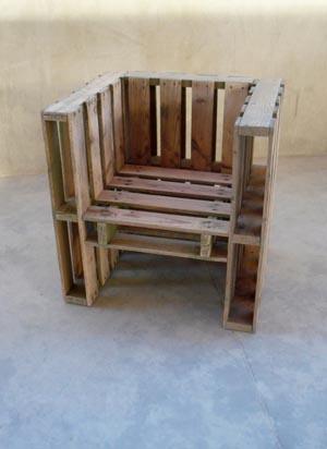 Palettes faites vos meubles esprit cabane idees - Comment faire un fauteuil avec des palettes ...