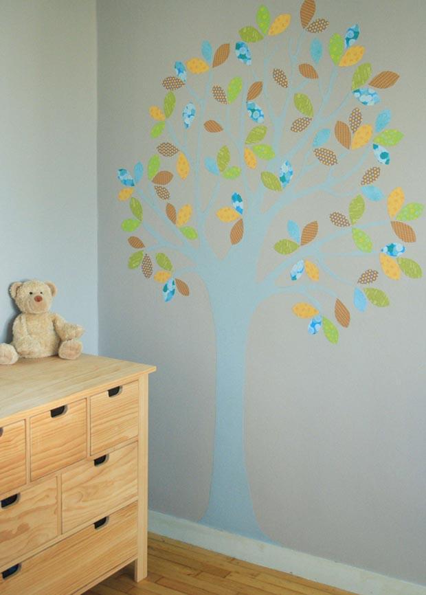 Arbre mural esprit cabane idees creatives et ecologiques for Bricolage chambre bebe