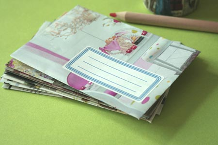 enveloppes en papier magazine