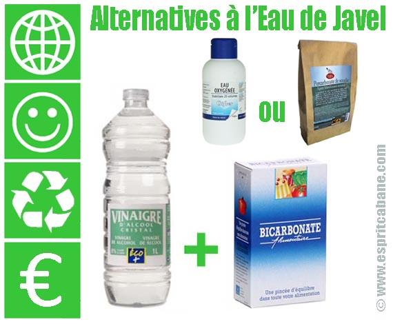 Alternatives l eau de javel esprit cabane idees for Vinaigre eau de javel