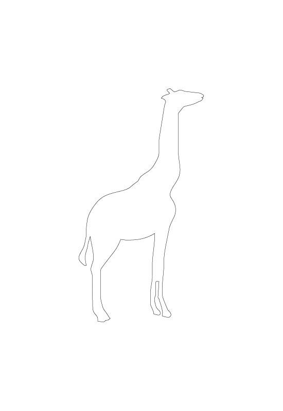 motif girafe