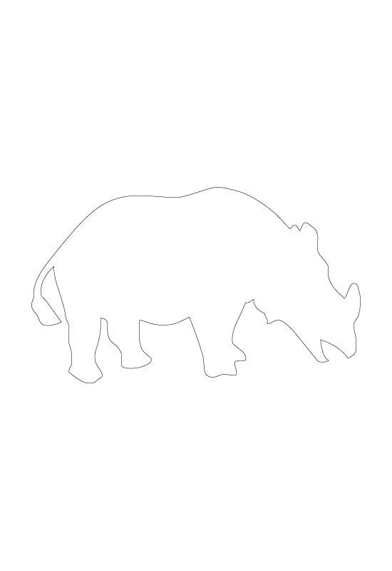 motif rhinocéros
