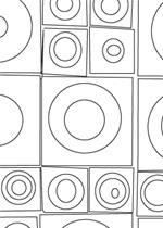 motif carres ronds