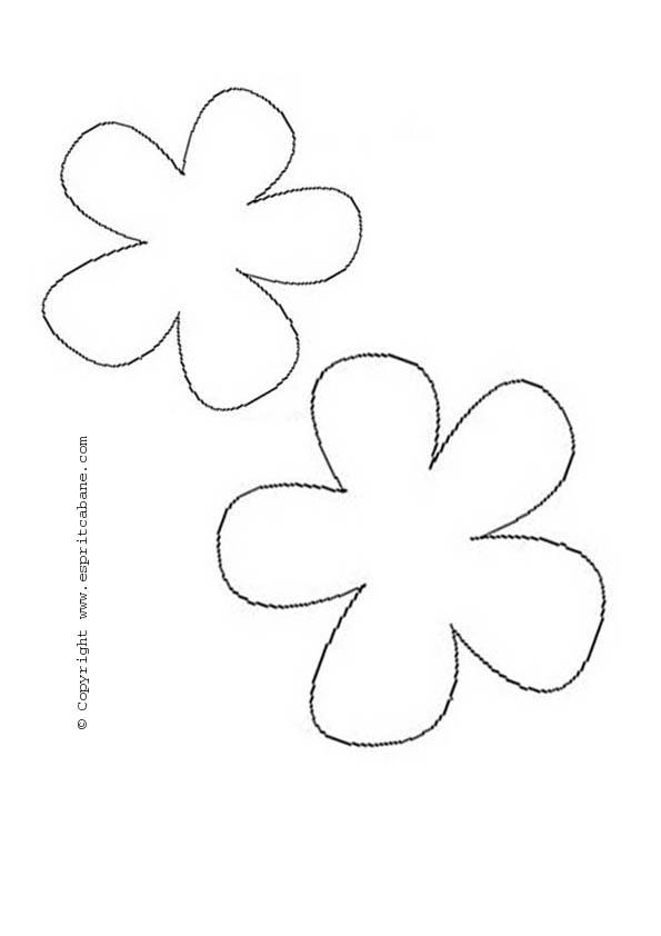 Sac main vache et fleurs esprit cabane idees creatives - Modele de fleurs a imprimer ...