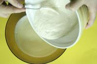 mélange purée et préparation au blanc de meudon