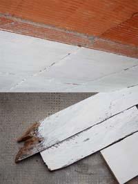 peinture briques bois