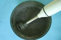 mélange pigment peinture lait pomme de terre