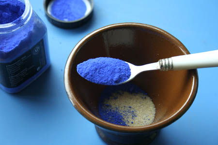 pigments bleu
