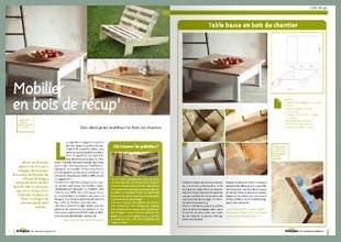 Collaborations esprit cabane idees creatives et ecologiques - Meuble bois recup ...
