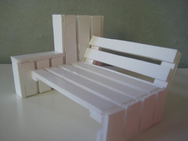 Eco design luminaires et meubles en palettes esprit - Fabriquer un banc en palette ...