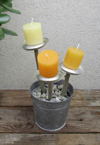 bougies pot fleur