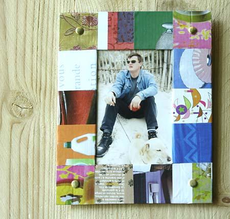Cadre en carton d co esprit cabane idees creatives et - Idees loisirs creatifs recup ...