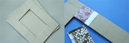 cadre en carton d co esprit cabane idees creatives et ecologiques. Black Bedroom Furniture Sets. Home Design Ideas