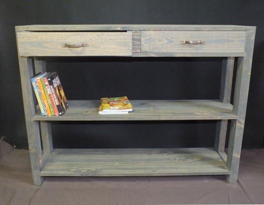 Cr atrice de meubles en bois de palettes esprit cabane for Objet en palette en bois