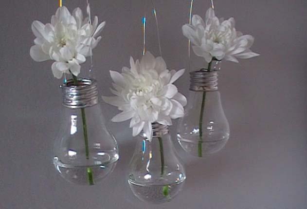 D co r cup ampoules vases esprit cabane idees - Idees loisirs creatifs recup ...