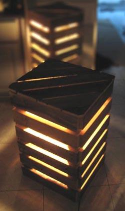 eco design luminaires et meubles en palettes esprit cabane idees creatives et ecologiques. Black Bedroom Furniture Sets. Home Design Ideas