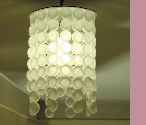 abat jour bouchons esprit cabane idees creatives et. Black Bedroom Furniture Sets. Home Design Ideas