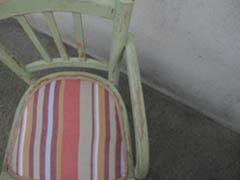 chaise dessus tissu
