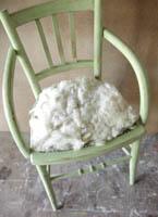 chaise laine