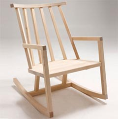 rocking chair en bois