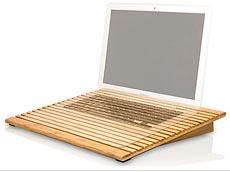 support pour ordinateur portable en bambou