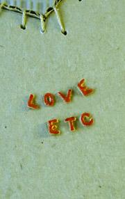 écrire mots love