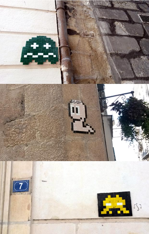 space invaders mosaique