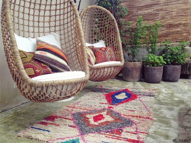 tapis berberes patio