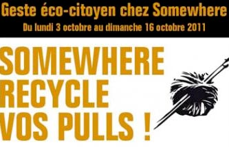 somewhere recycle les pulls